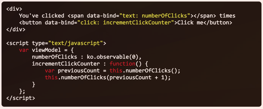 knockout-click-data-bind-example-screen
